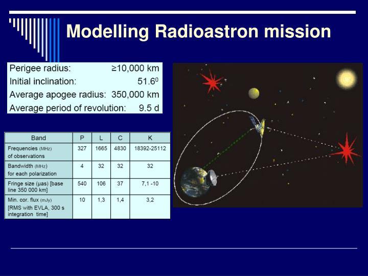 Modelling Radioastron mission