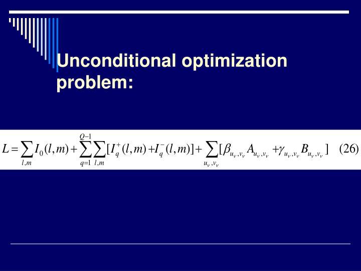 Unconditional optimization problem: