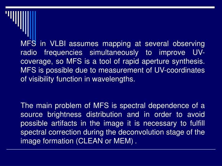 MFS in VLBI