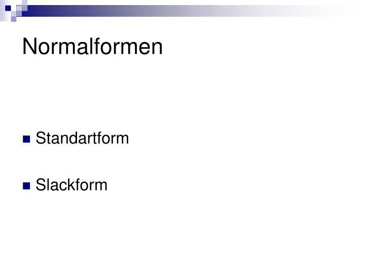 Normalformen