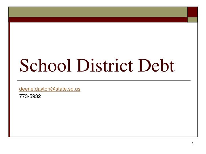 School district debt
