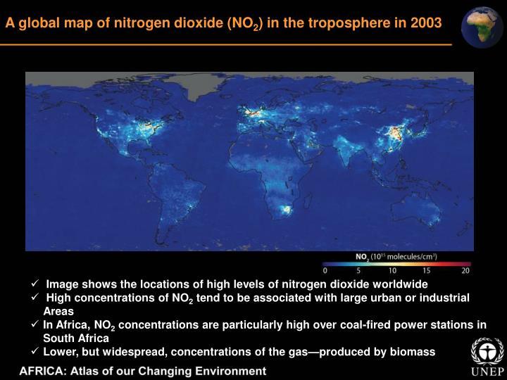 A global map of nitrogen dioxide (NO