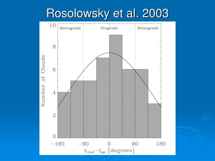 Rosolowsky et al. 2003