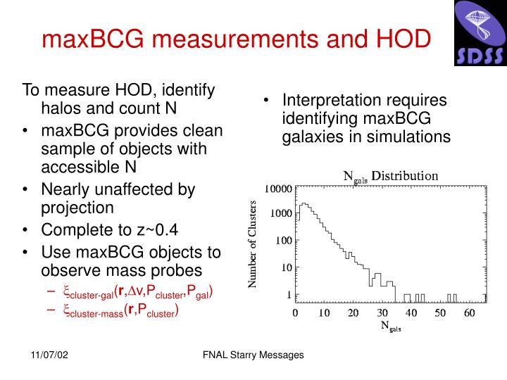 To measure HOD, identify halos and count N