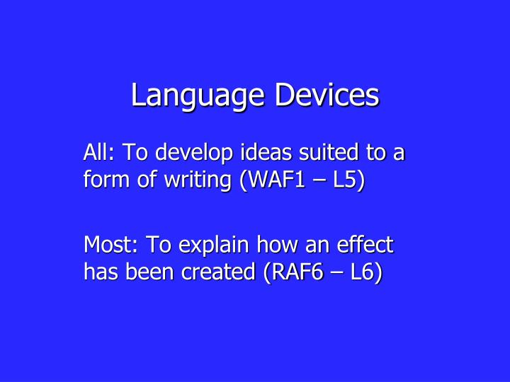 Language devices