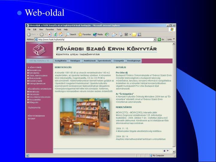 Web-oldal