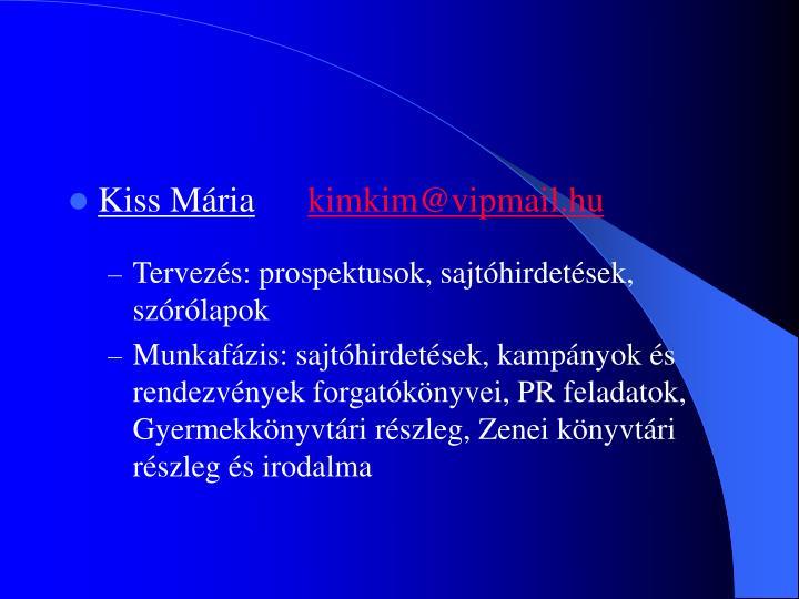 Kiss Mária