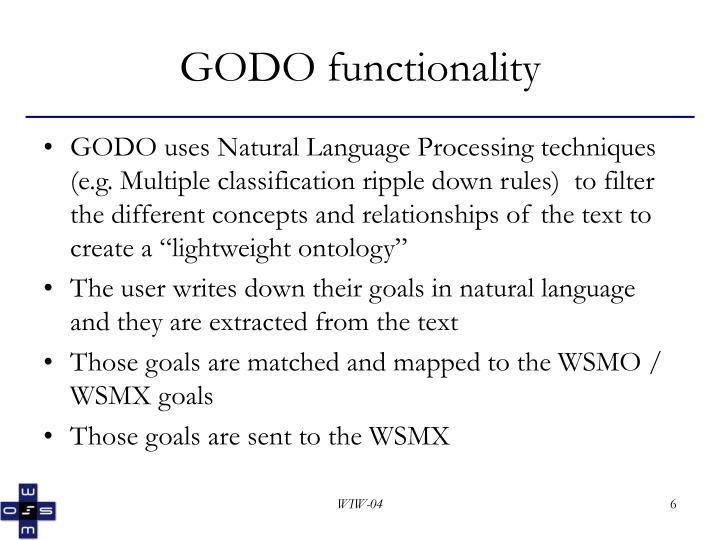GODO functionality
