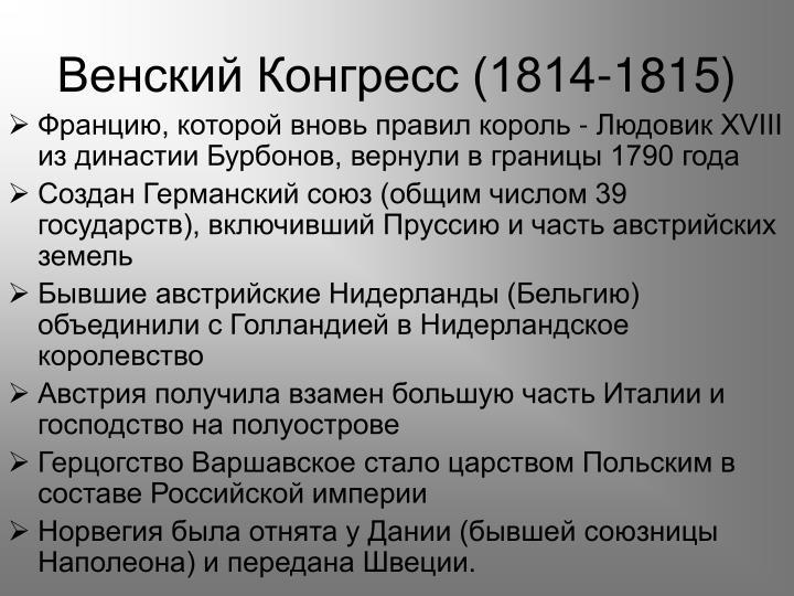 Венский Конгресс (1814-1815)