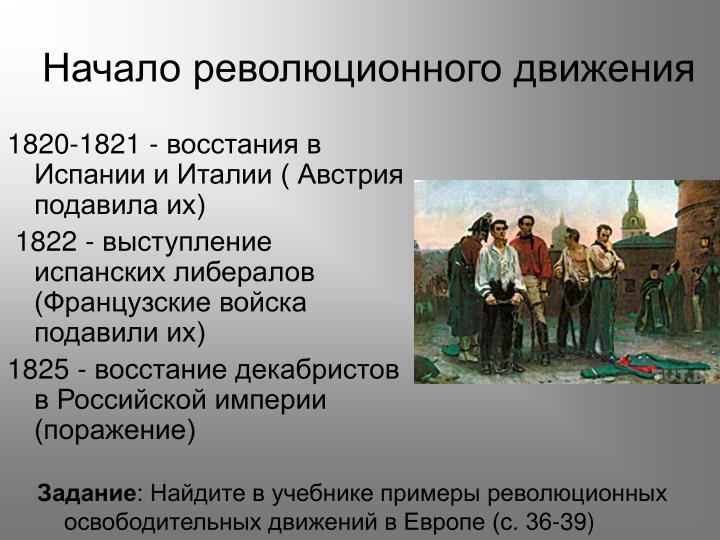 Начало революционного движения