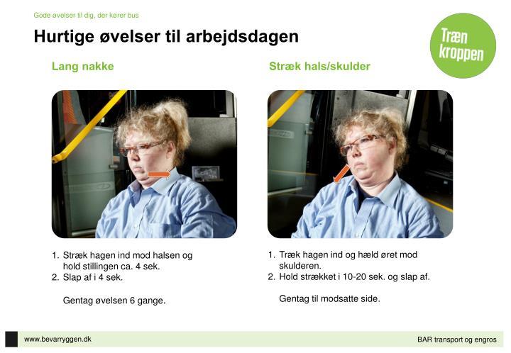 Gode øvelser til dig, der kører bus