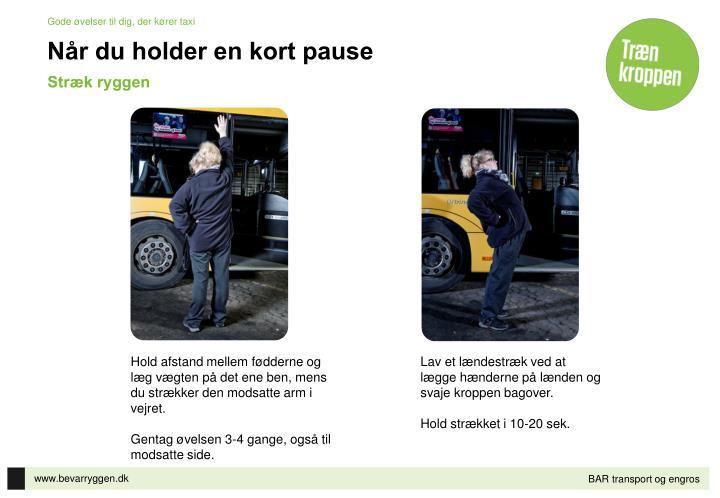 Gode øvelser til dig, der kører taxi