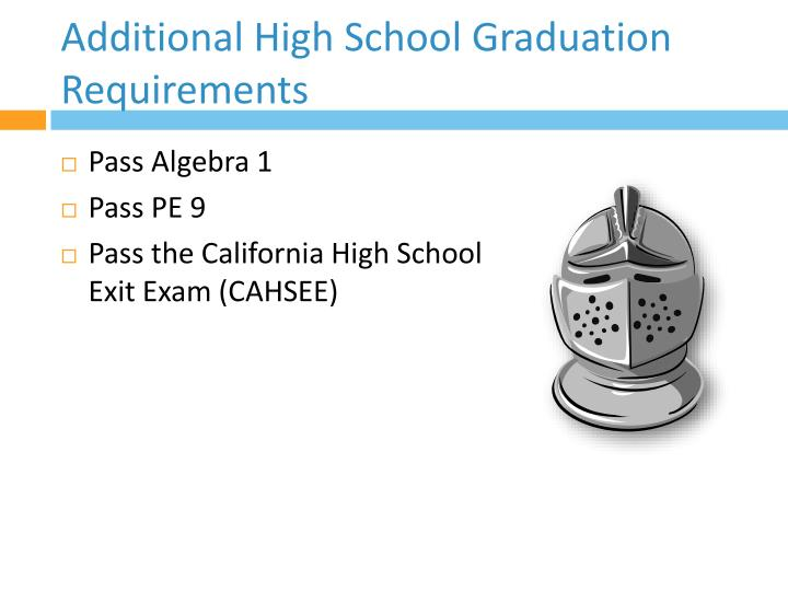 Additional High School Graduation Requirements