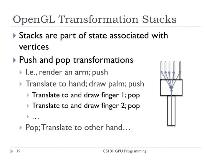 OpenGL Transformation Stacks