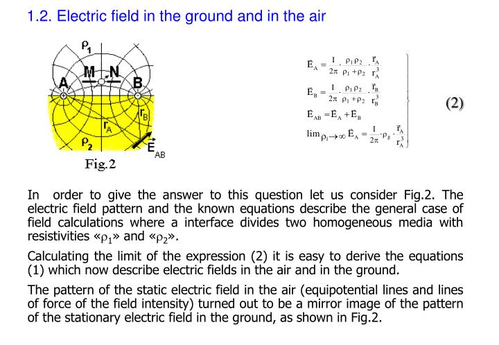 1.2. Electric field in the ground and in the air