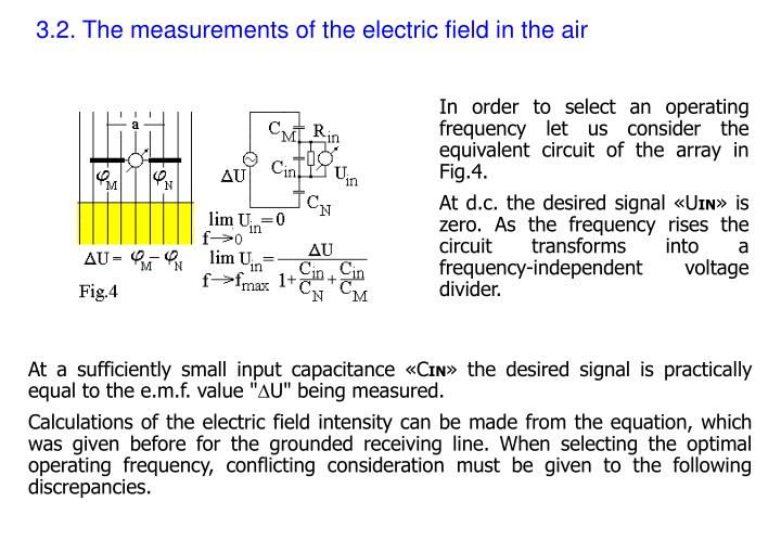 3.2. The measurements of the electric field in the air