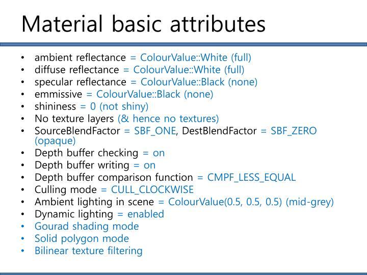 Material basic attributes