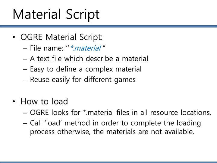 Material Script