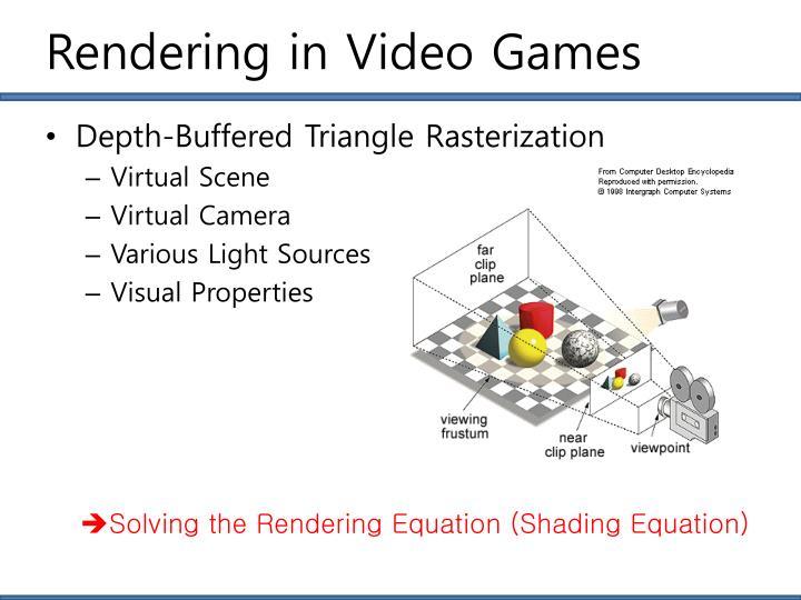Rendering in Video Games