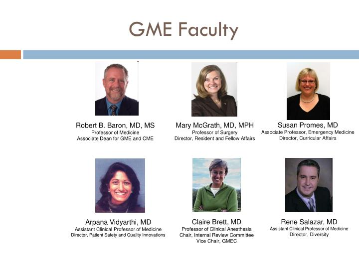 Gme faculty