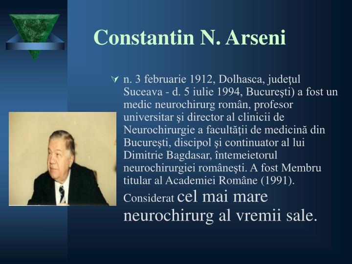 Constantin N. Arseni