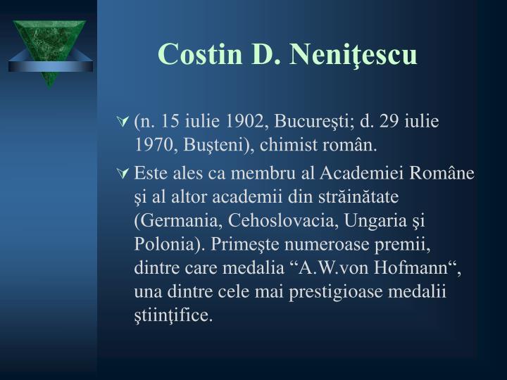 Costin D. Neniţescu