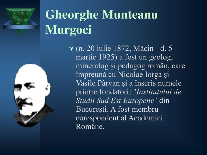 Gheorghe Munteanu Murgoci