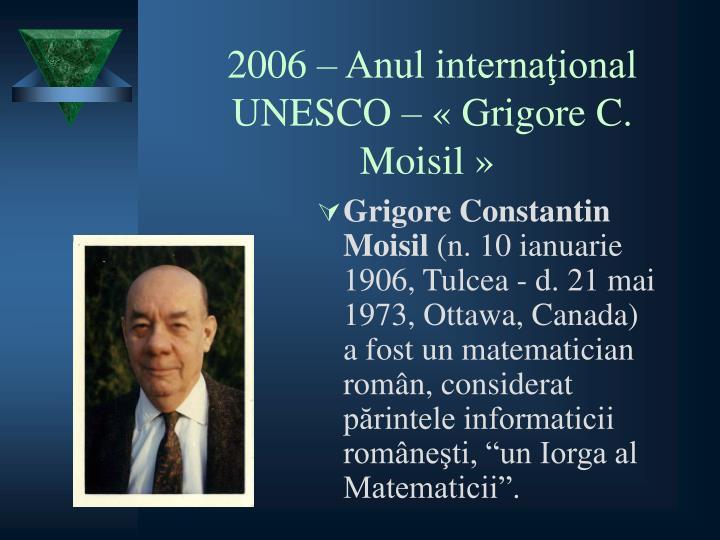 GRIGORE C. MOISIL