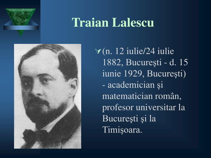 Traian Lalescu