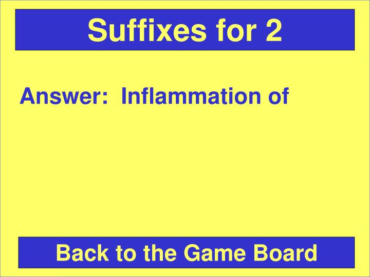 Suffixes for 2
