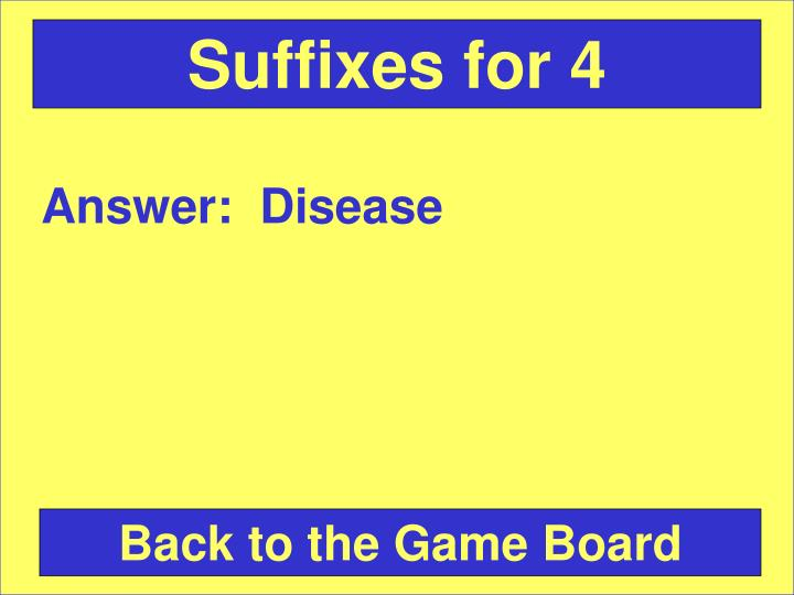 Suffixes for 4