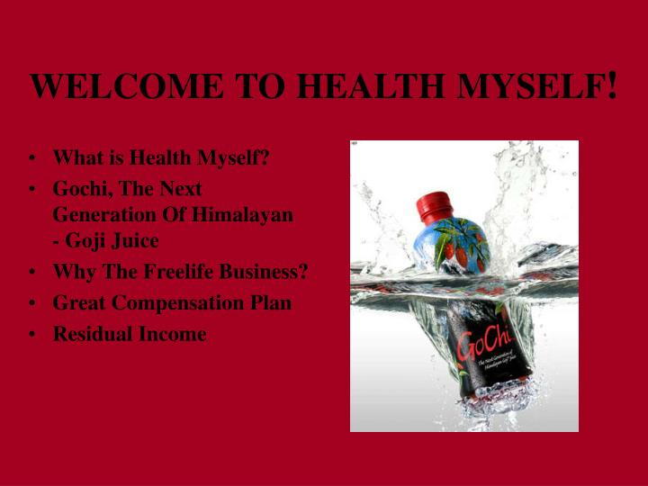 Welcome to health myself