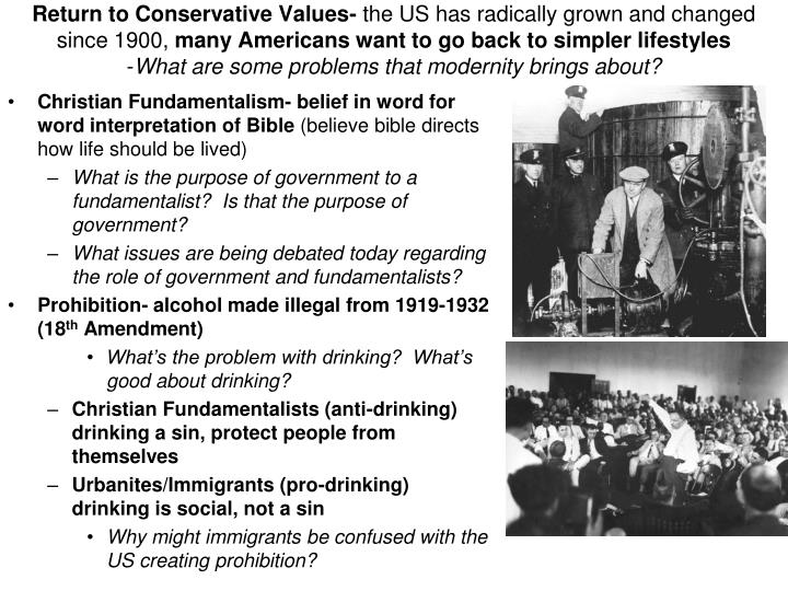 Return to Conservative Values-