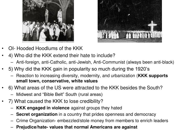 OI- Hooded Hoodlums of the KKK