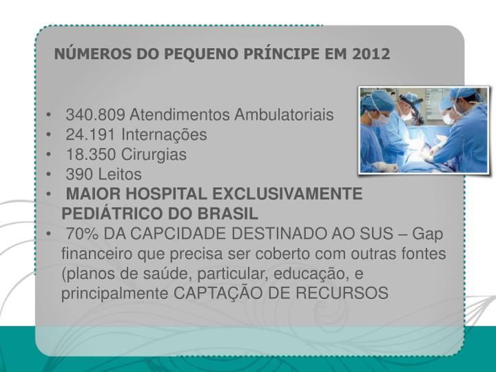 NÚMEROS DO PEQUENO PRÍNCIPE EM 2012