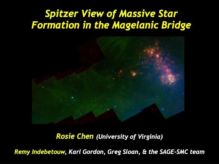 spitzer view of massive star formation in the magelanic bridge