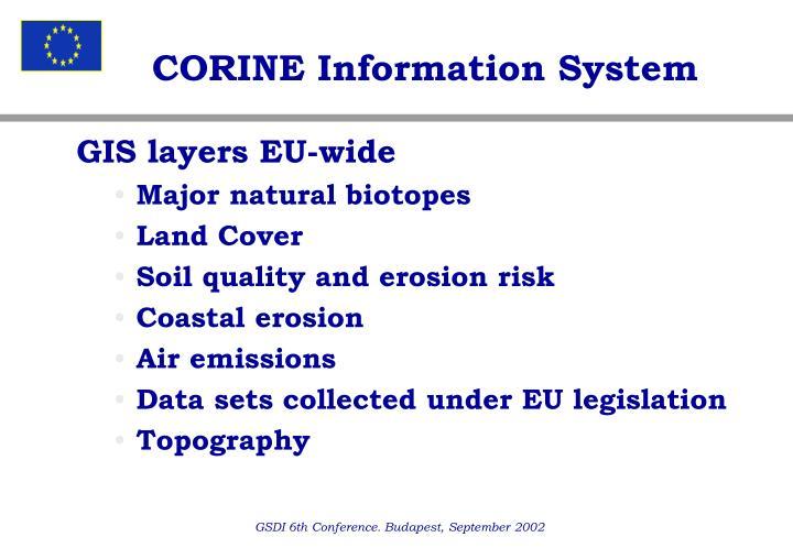 CORINE Information System