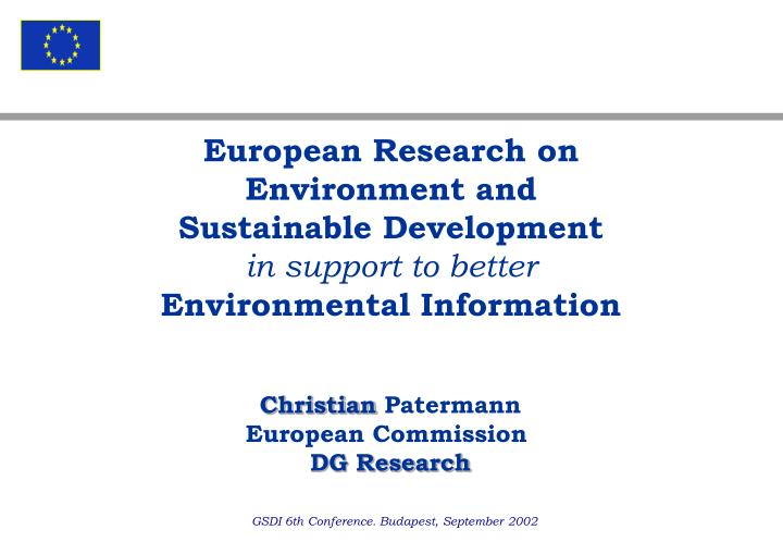 European Research on