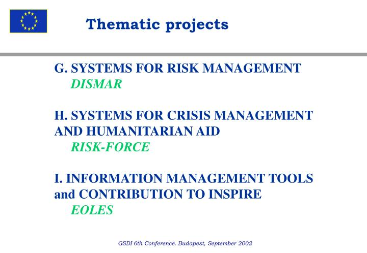 Thematic projects