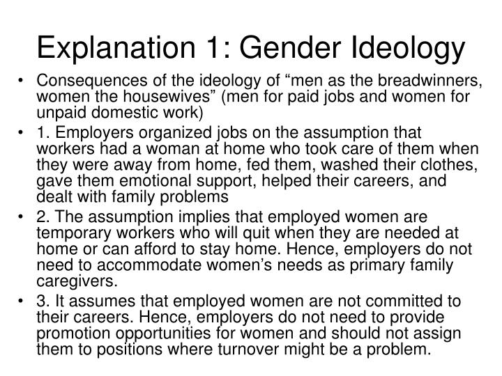 Explanation 1: Gender Ideology