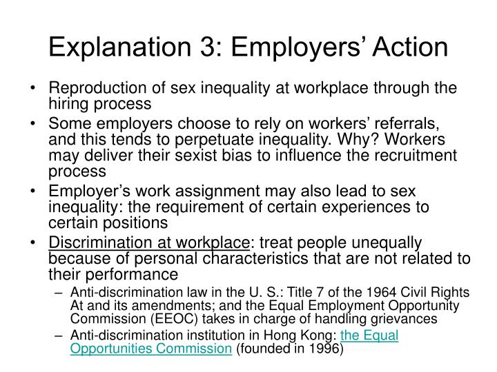 Explanation 3: Employers' Action