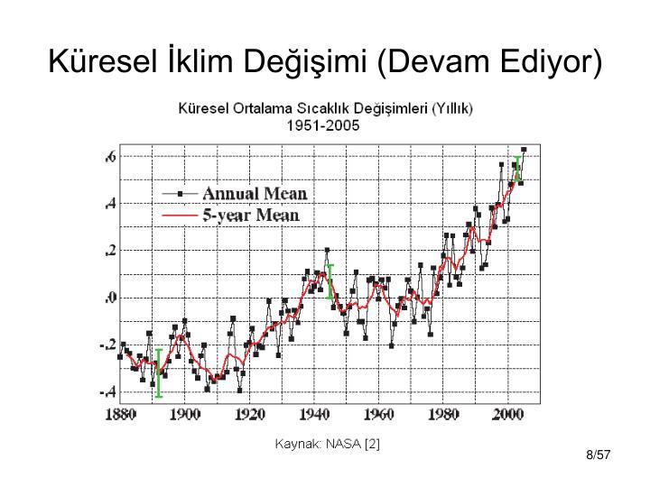 Küresel İklim Değişimi (Devam Ediyor)