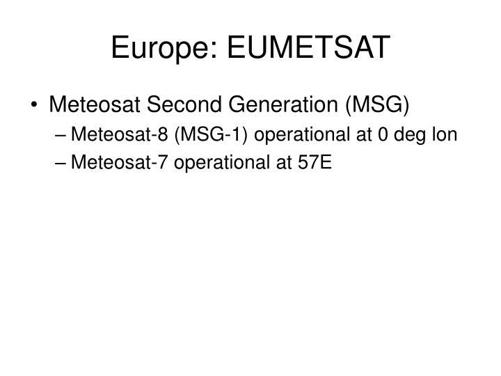 Europe: EUMETSAT