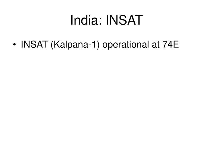 India: INSAT