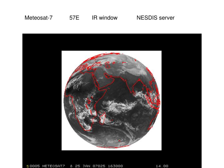 Meteosat-7 57EIR windowNESDIS server