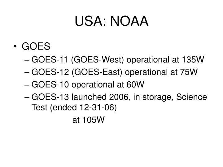 USA: NOAA
