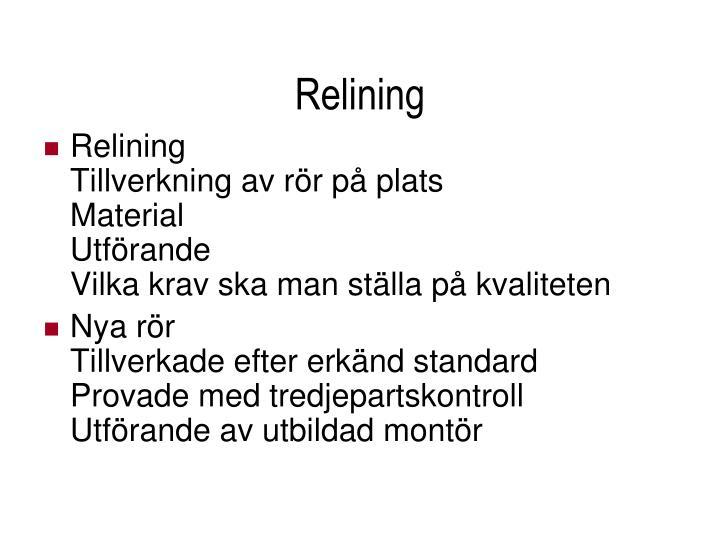 Relining