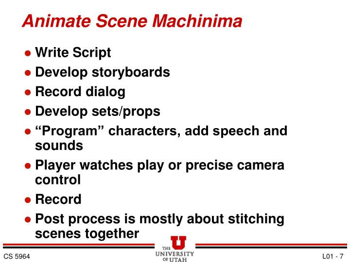 Animate Scene Machinima