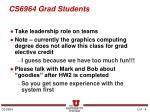cs6964 grad students