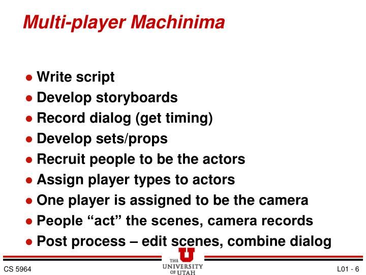 Multi-player Machinima